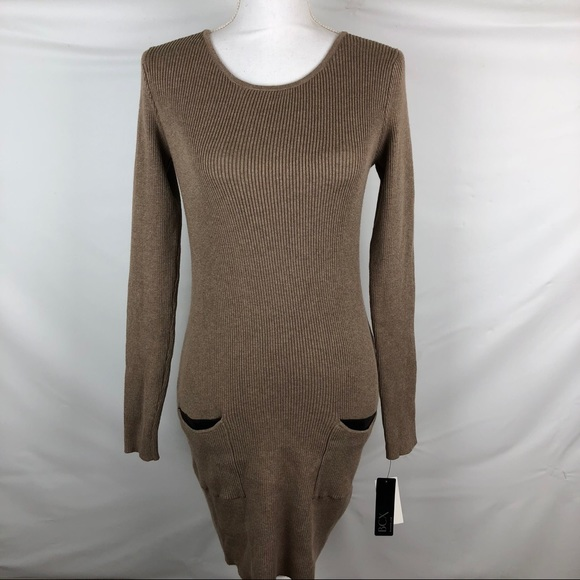 147ba3e5963 BCX Women s Taupe Sweater Dress Size L